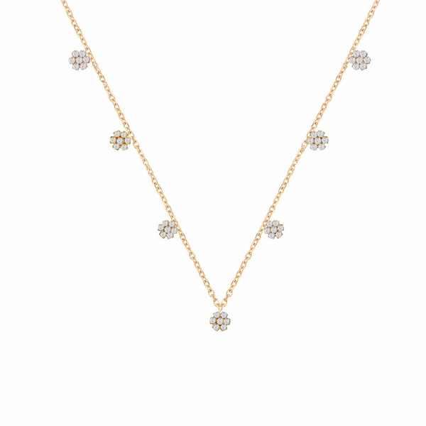 cosar-silver-925-sterling-silver-flower-necklace-with-multicolor-cz