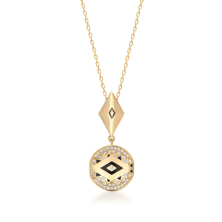 cosar-silver-925-sterling-silver-eye-necklace-with-cubic-zirkon-and-enamel