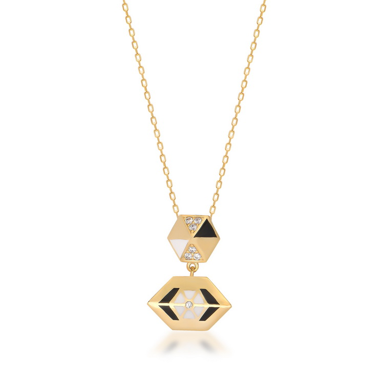 cosar-silver-925-sterling-geometric-shaped-necklace-with-cubic-zircon