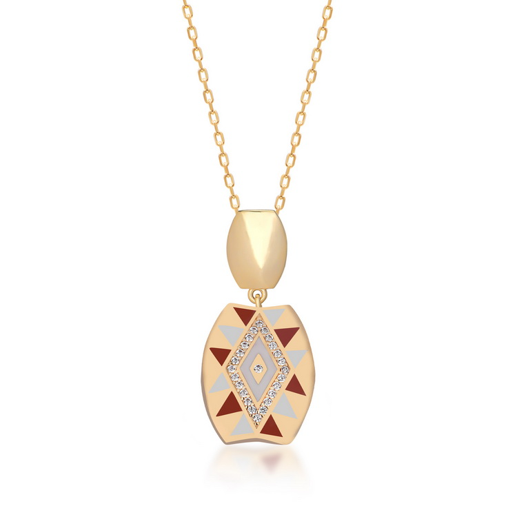 cosar-silver-sterling-silver-925-geometrical-necklace-with-zirconia