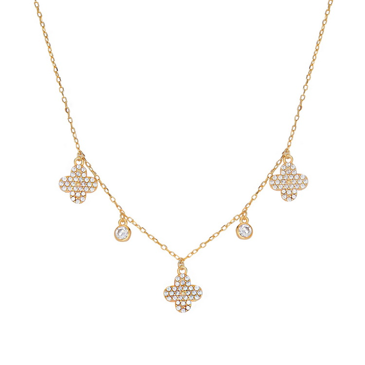 cosar-silver-925-sterling-silver-clover-necklace