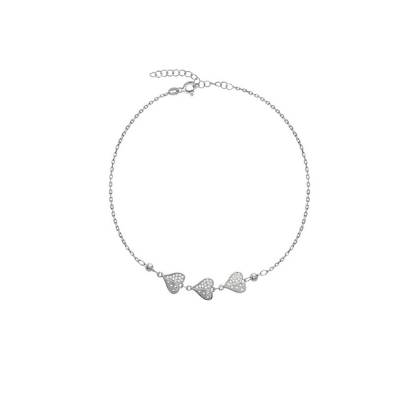 cosar-silver-sterling-silver-925-anklet-with-hearts