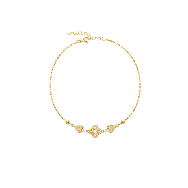 cosar-silver-sterling-silver-925-anklet-with-clover
