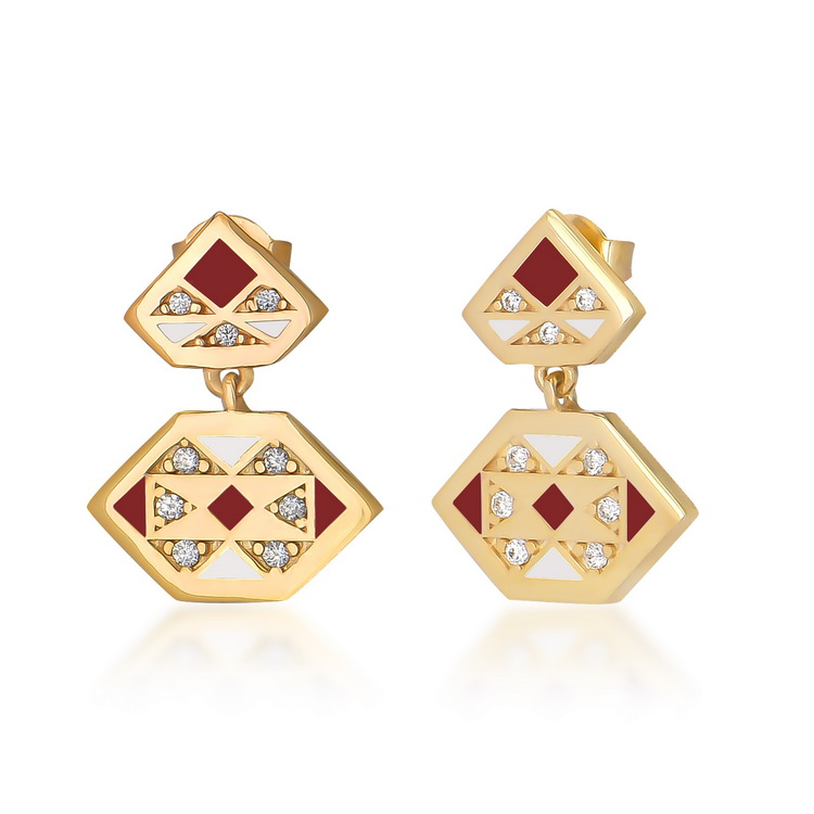 cosar-silver-sterling-silver-925-geometrical-earring-with-zirconia
