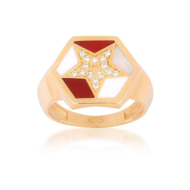 cosar-silver-sterling-silver-925-star-ring-with-cubic-zirkon-and-enamel